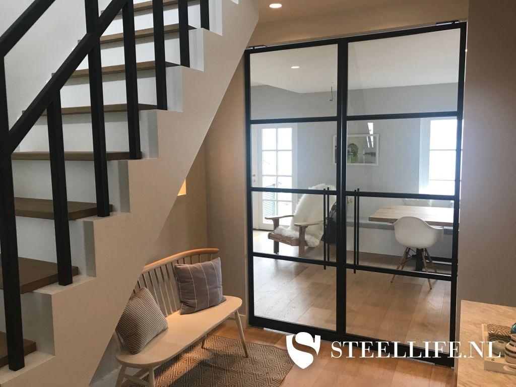 Zwarte Stalen Trapleuning : Stalen trappen en trapleuningen van steellife