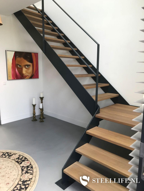 Verbazingwekkend Stalen trap, metalen trappen met houten of glazen traptreden? BH-85